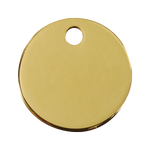 Circle Brass Pet Tag
