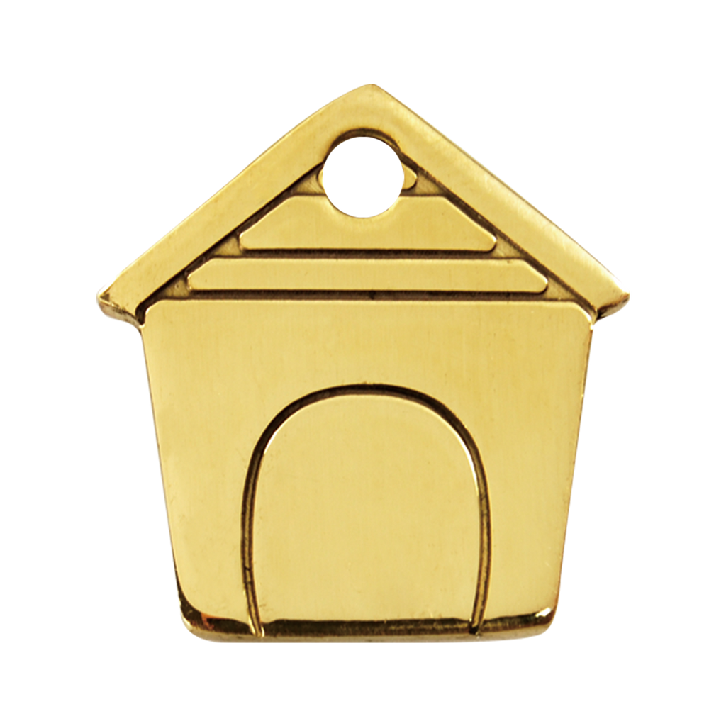 Dog House Brass Pet Tag