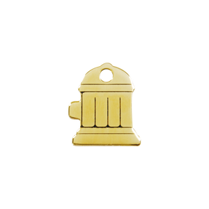 Fire Hydrant Brass Pet Tag