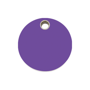 Circle Plastic Pet Tag