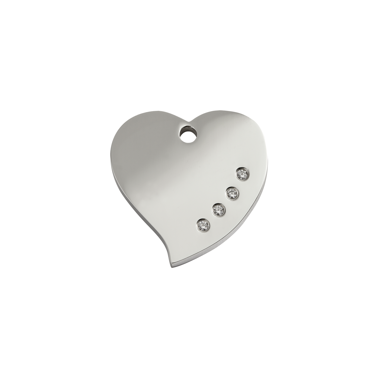 Heart Swarovski Diamante Stainless Steel Pet Tag