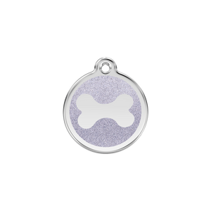 Glitter Bone Pet Tag