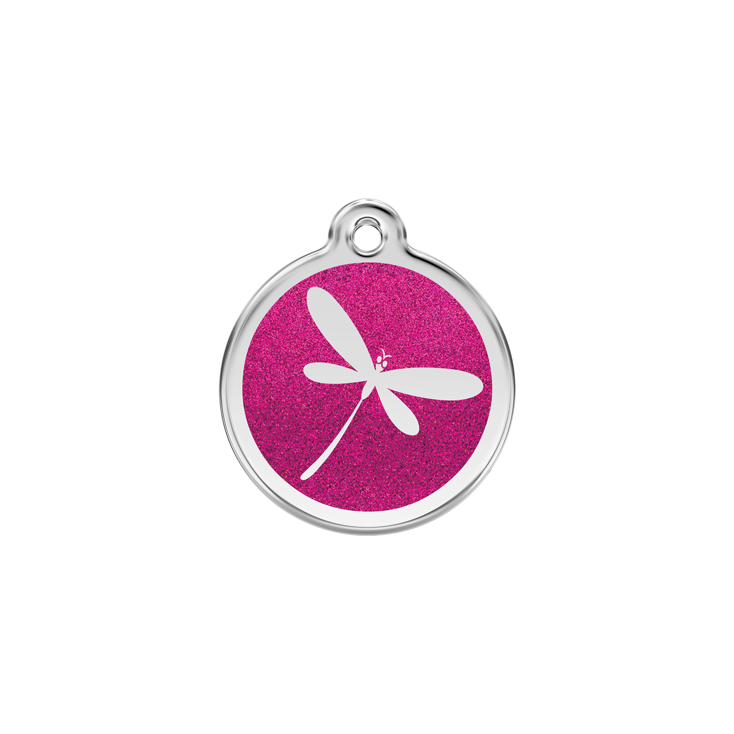 Glitter Dragonfly Pet Tag