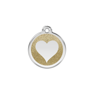 Glitter Heart Pet Tag