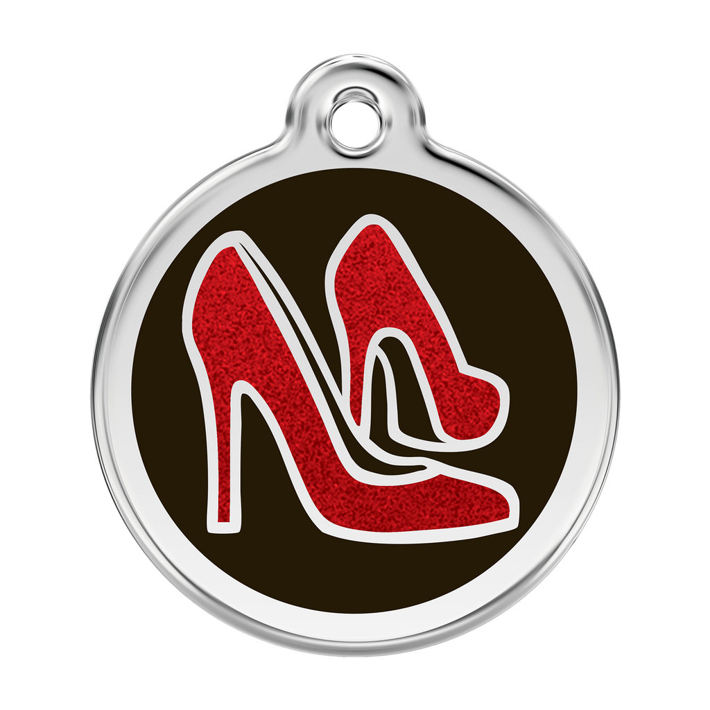 Glitter Red Shoe Pet Tag