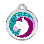Glitter Unicorn Pet Tag
