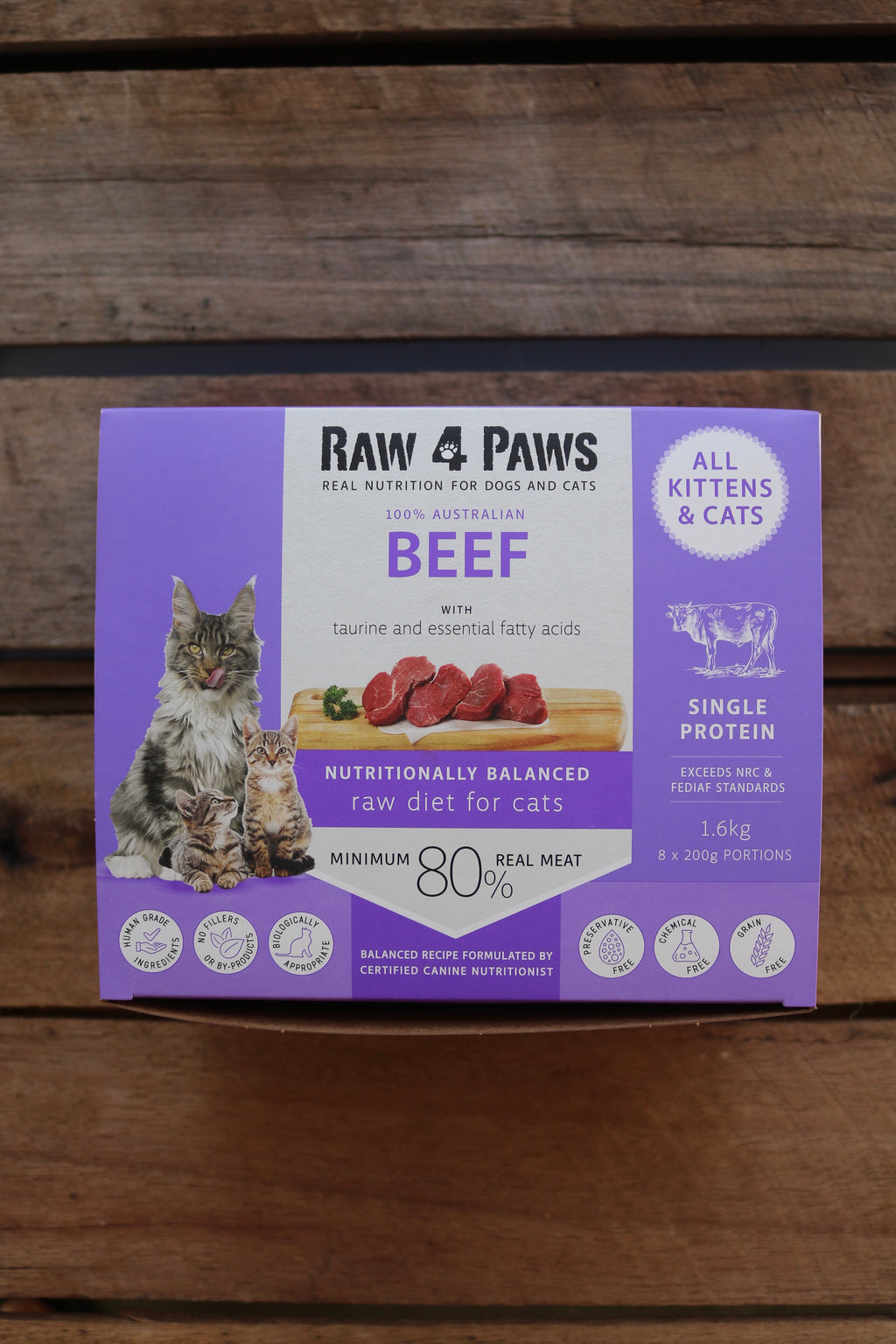 Beef Carton for Cats 1.6kg