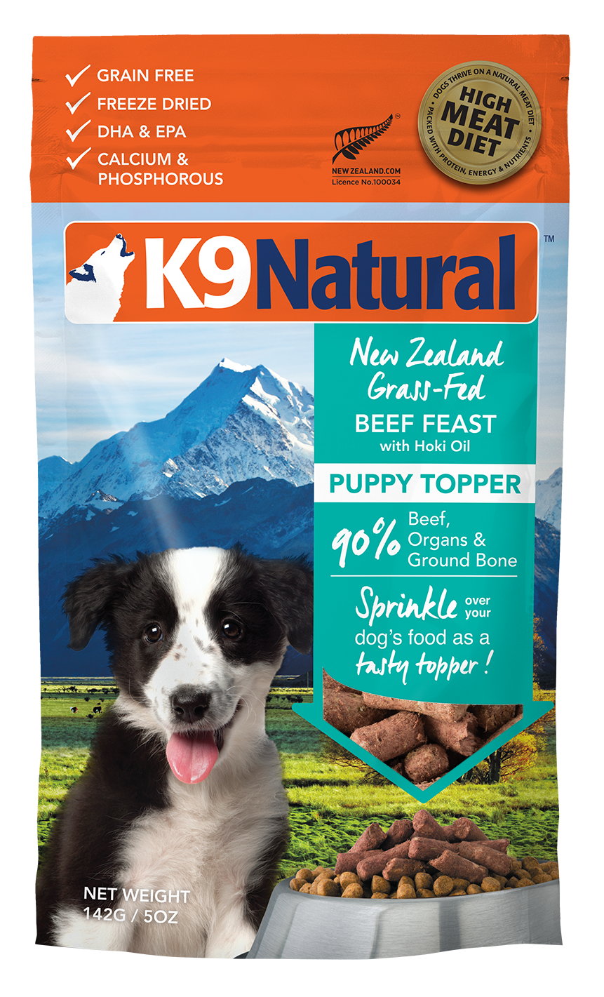 K9 Natural Beef Feast with Hoki Oil Freeze Dried Raw Puppy Topper