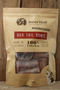 Roo Tail Bones Raw Frozen 1kg
