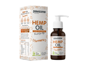 Pawsome Organics Hemp & Turmeric Oil 100mL