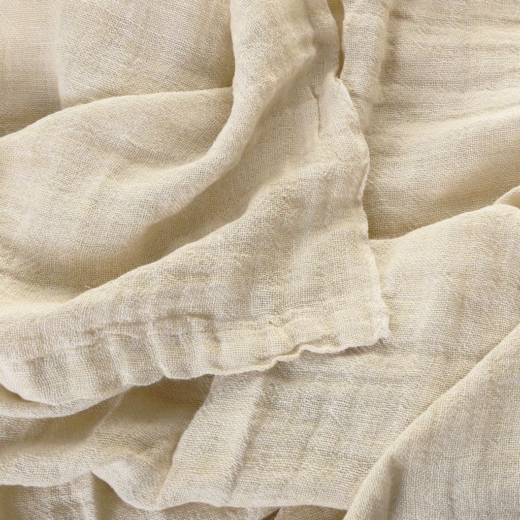 100% linen bed cover - yellow