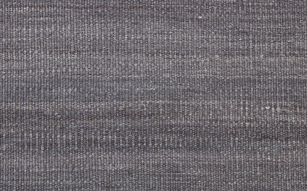 hand woven thicker, flat-weave dhurrie style, dark grey