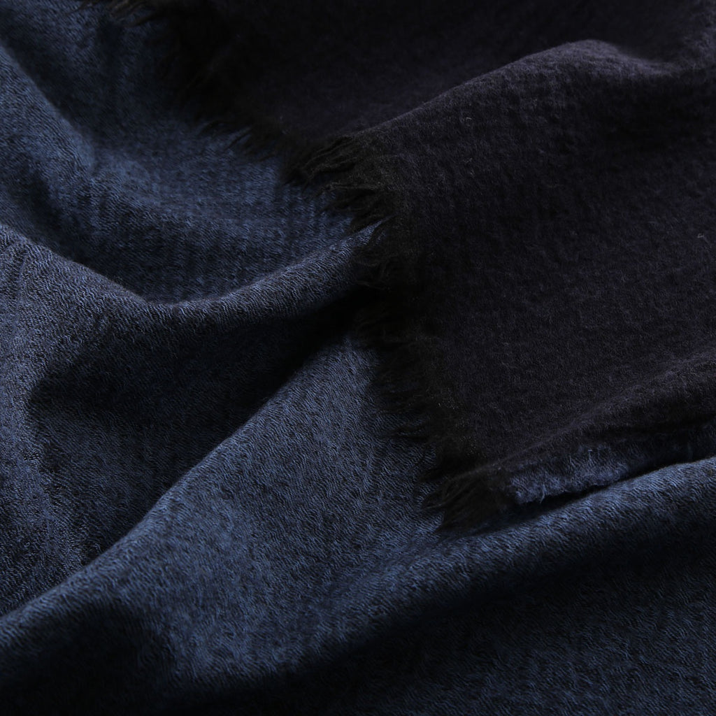 denim blue/dark navy boiled wool throw
