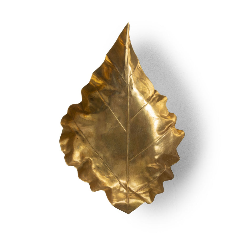 pressed metal leaf - large