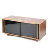mini glass front media unit