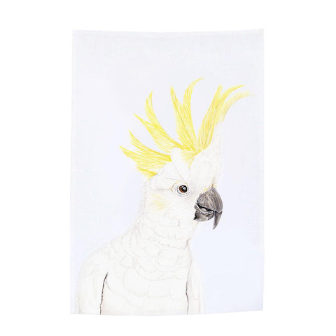 cockatoo tea towel