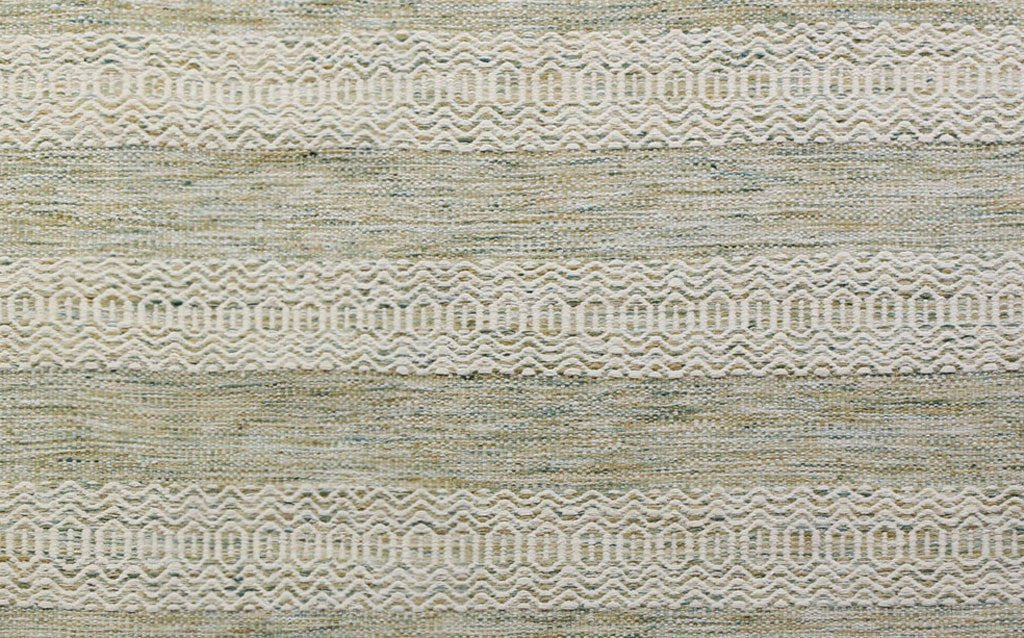 hand-woven flat-weave dhurrie style green stripe carpet