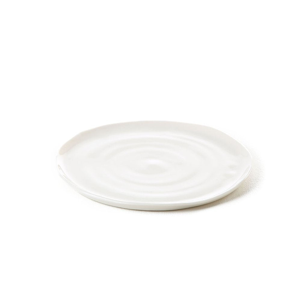 hand-thrown porcelain side plate 8x total, 8x remaining