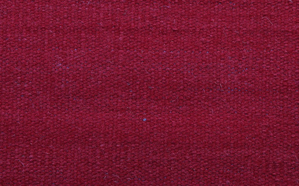 hand woven thinner flat-weave dhurrie style carpet abrush red