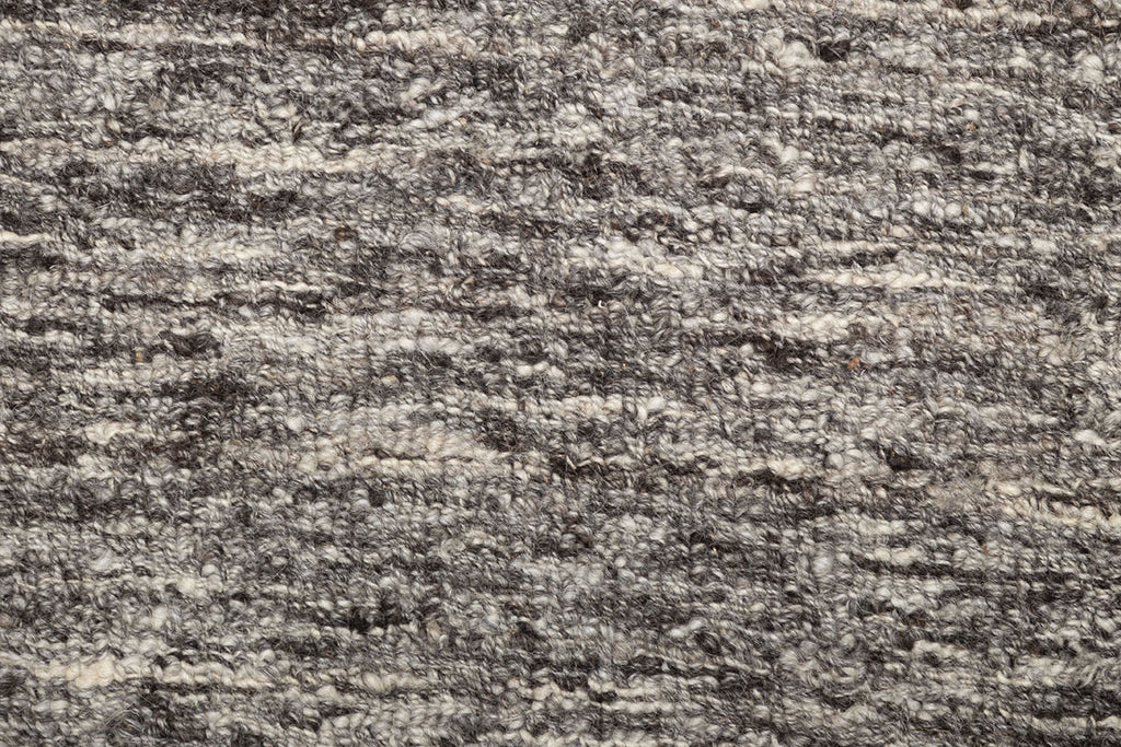 flannel grey 100% wool hand loomed loop pile carpet