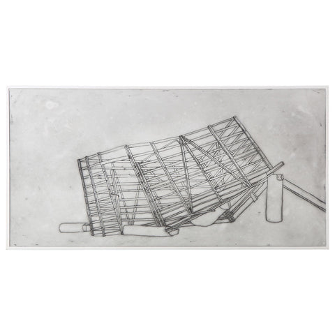 bec stevens - BS#52 - structures in collapse, stock crate, midlands highway, bagdad