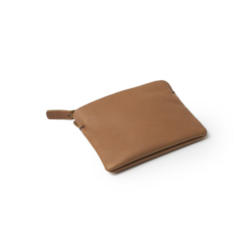 tan zipper wallet - small