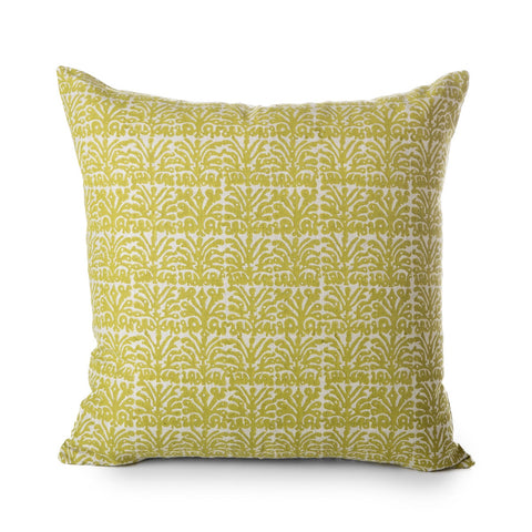 block printed anjuna pista linen cushion 50 x 50 cm