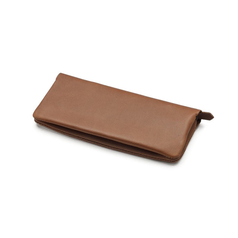tan fold wallet - medium