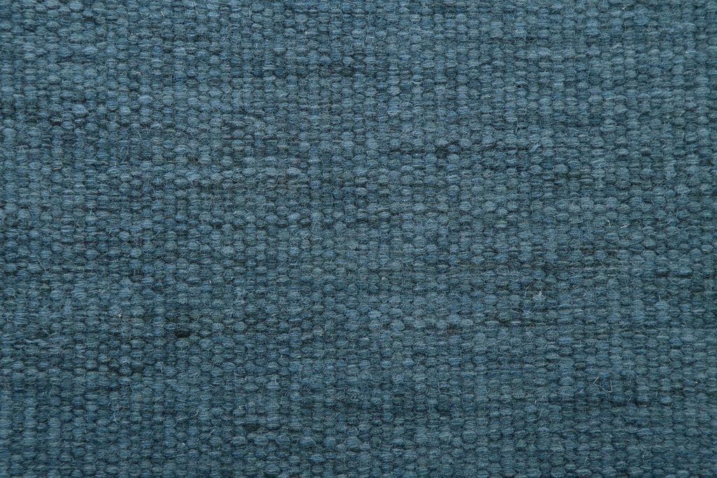 flat weave dhurries wool mid blue