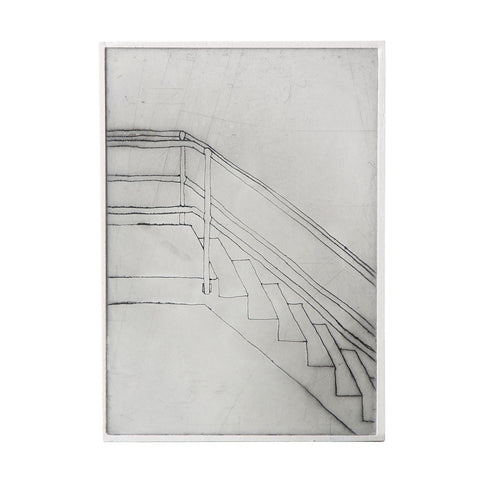 bec stevens - BS#55 - staircases, ladders & bridges. pumping station stair, william henry street, ultimo