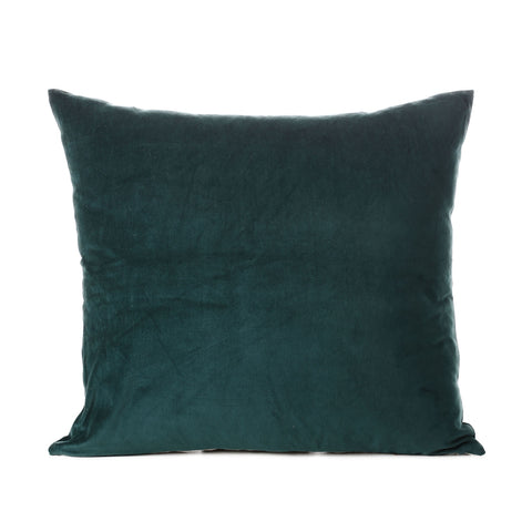 velvet cotton cushion emerald 50x55cm