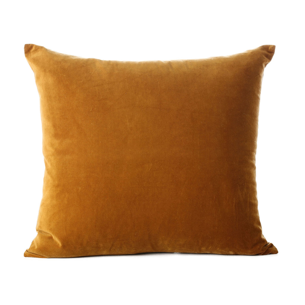 velvet cotton cushion topaz 50x55cm