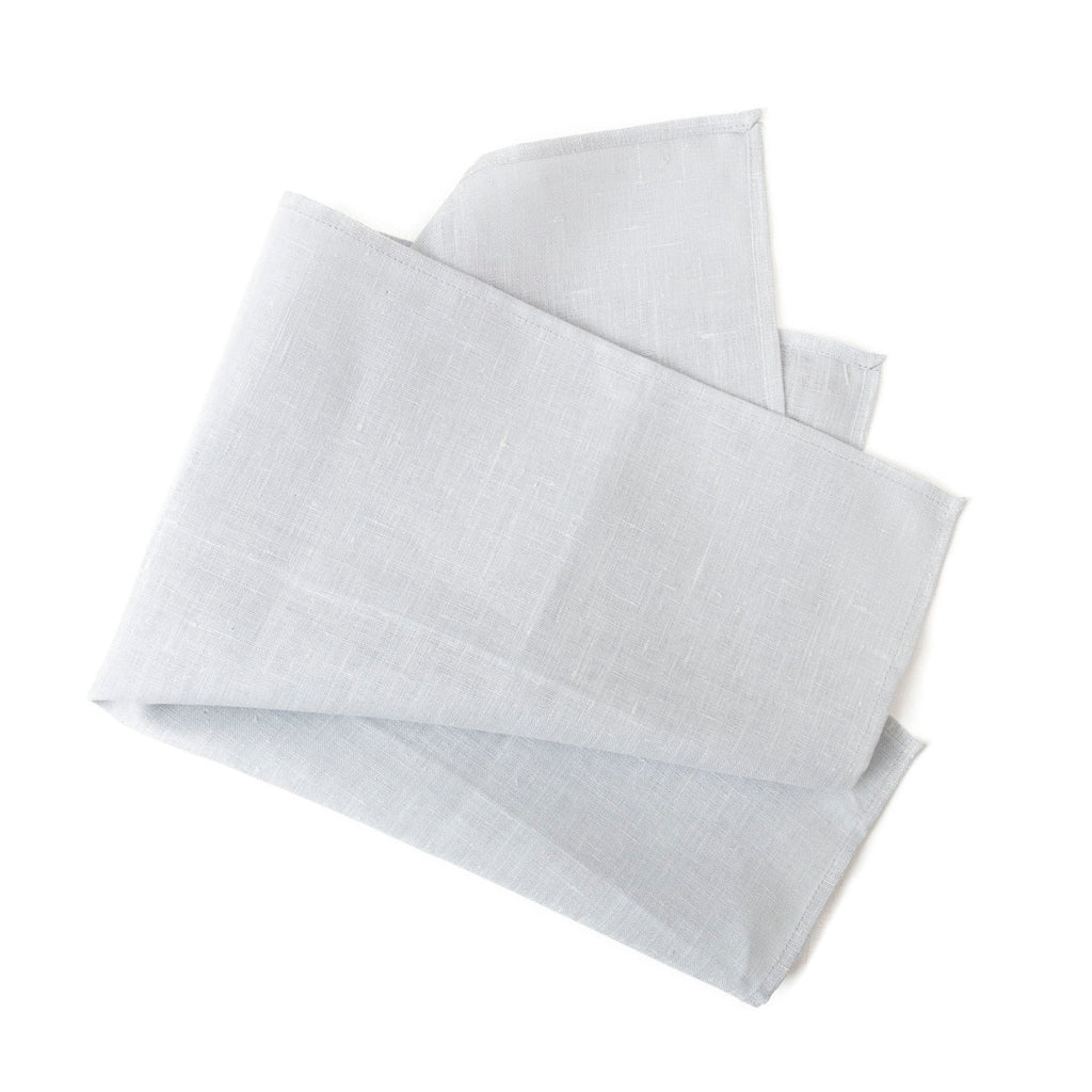linen tea towel - pearl blue - 50 x 70