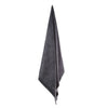 organic charcoal grey bath towel