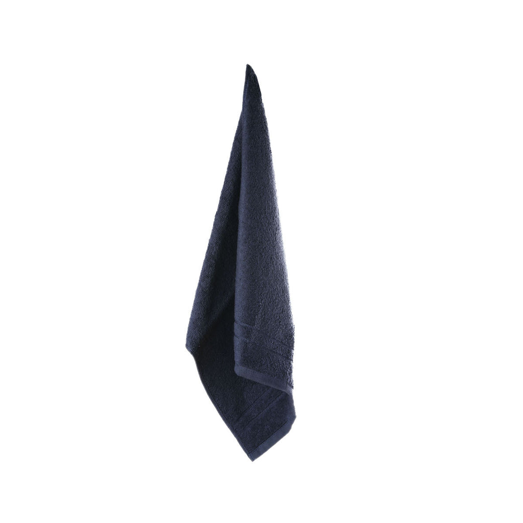 organic navy towel
