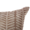 block printed kuku smoke linen cushion  55 x 55 cm