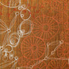 free-hand machine embroidery with khadi silk back - amber