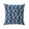 planet cushion - handspun cotton with mud resist block print using natural indigo