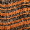 ahimsa silk in orange / black stripe