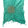 silk bandhani circle design in sea green