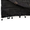 jamdani cotton handweave - black