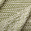hand woven cotton blanket in green size: 270 x 220cm gentle wash less than 40°
