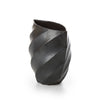 terunobu hirata - twisted round facetted vase
