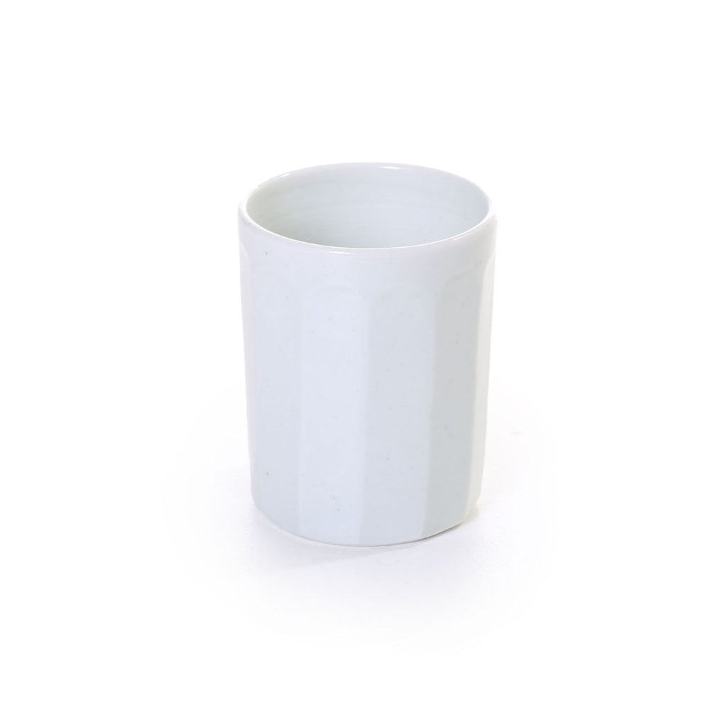 hirata terunobu - light celadon, facetted cup