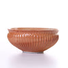 hirata - fluted red shino bowl