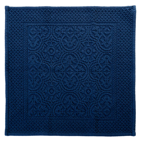 100% cotton bath mat - blue