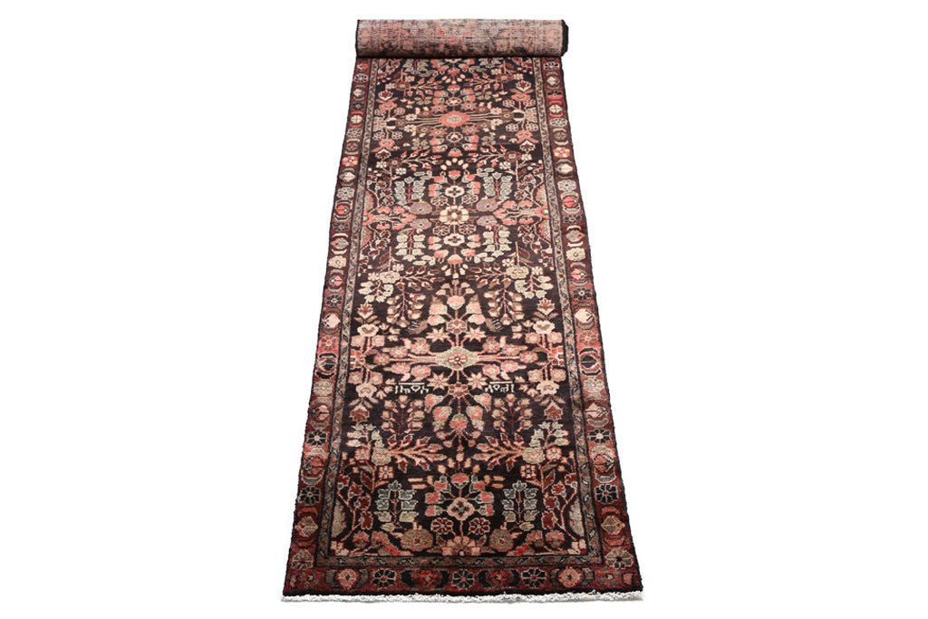 vintage hand knotted persian style runner