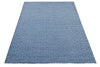 navy bulbul - 100% wool pile dhurrie with concealed cotton warp