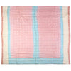 pink and pale blue silk sari planet quilt