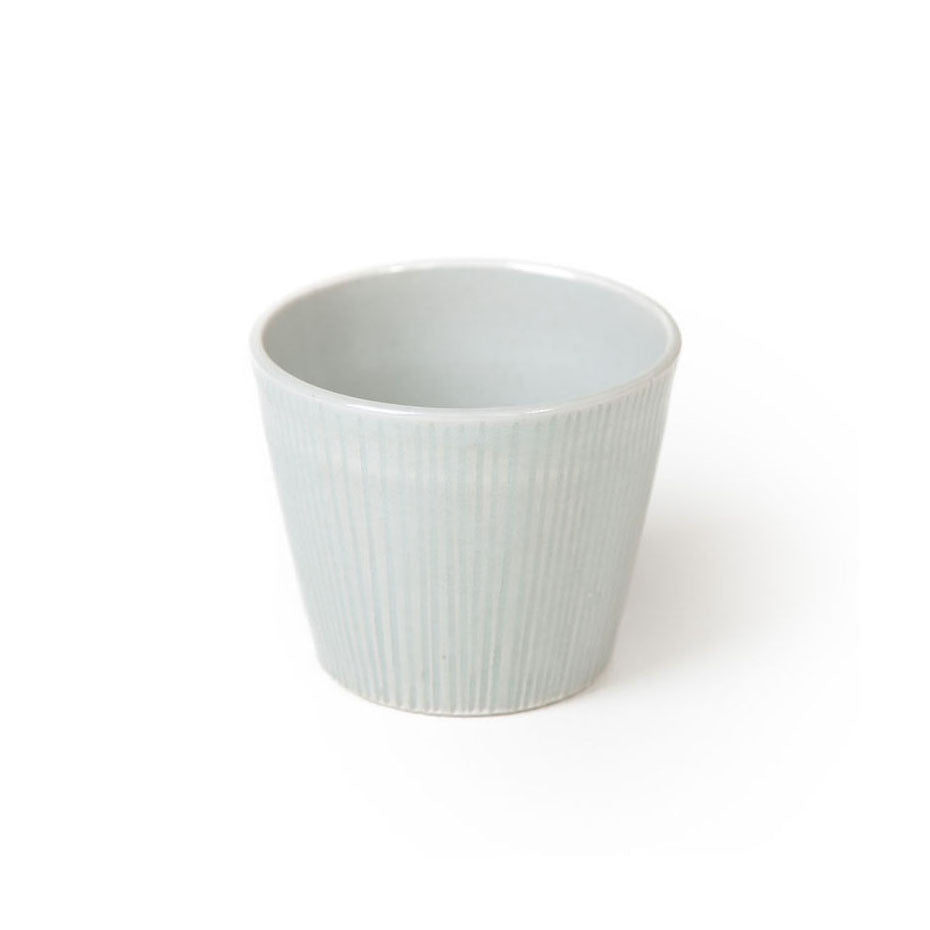 hirata terunobu - finely grooved celadon cup